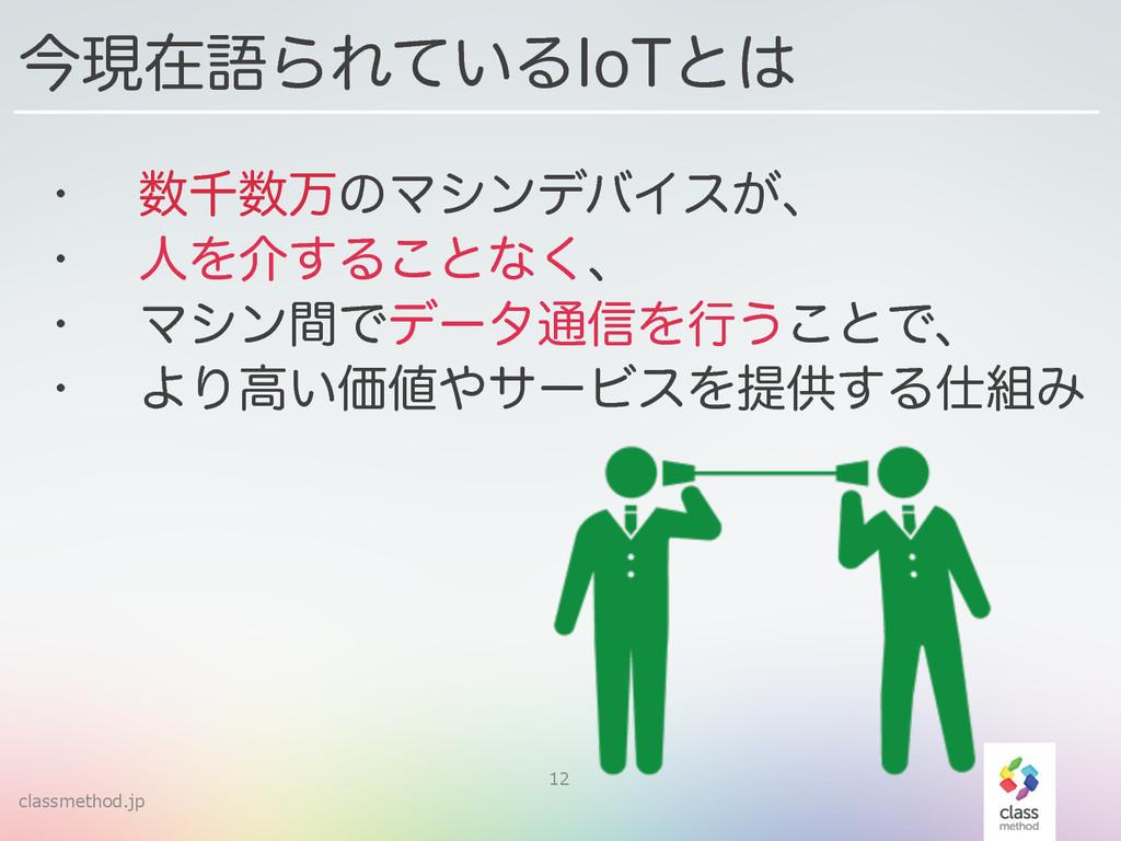 classmethod.jp 12 w ઍສͷϚγϯσόΠε͕ɺ w ਓΛհ͢Δ͜ͱͳ͘...
