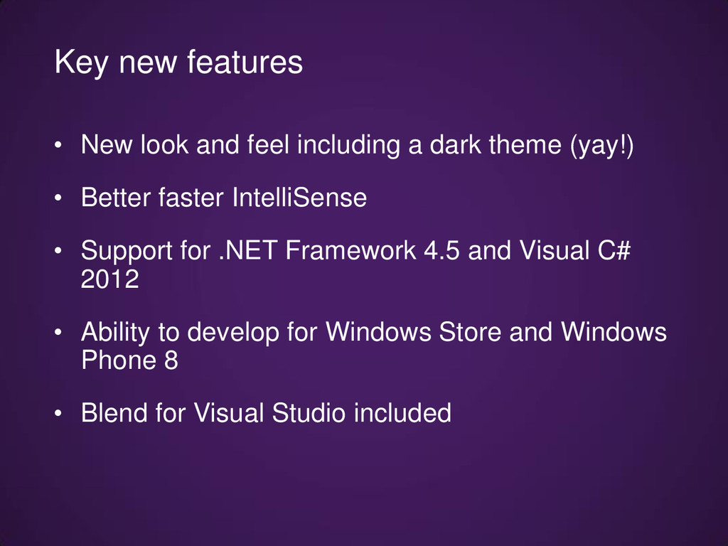 • New look and feel including a dark theme (yay...