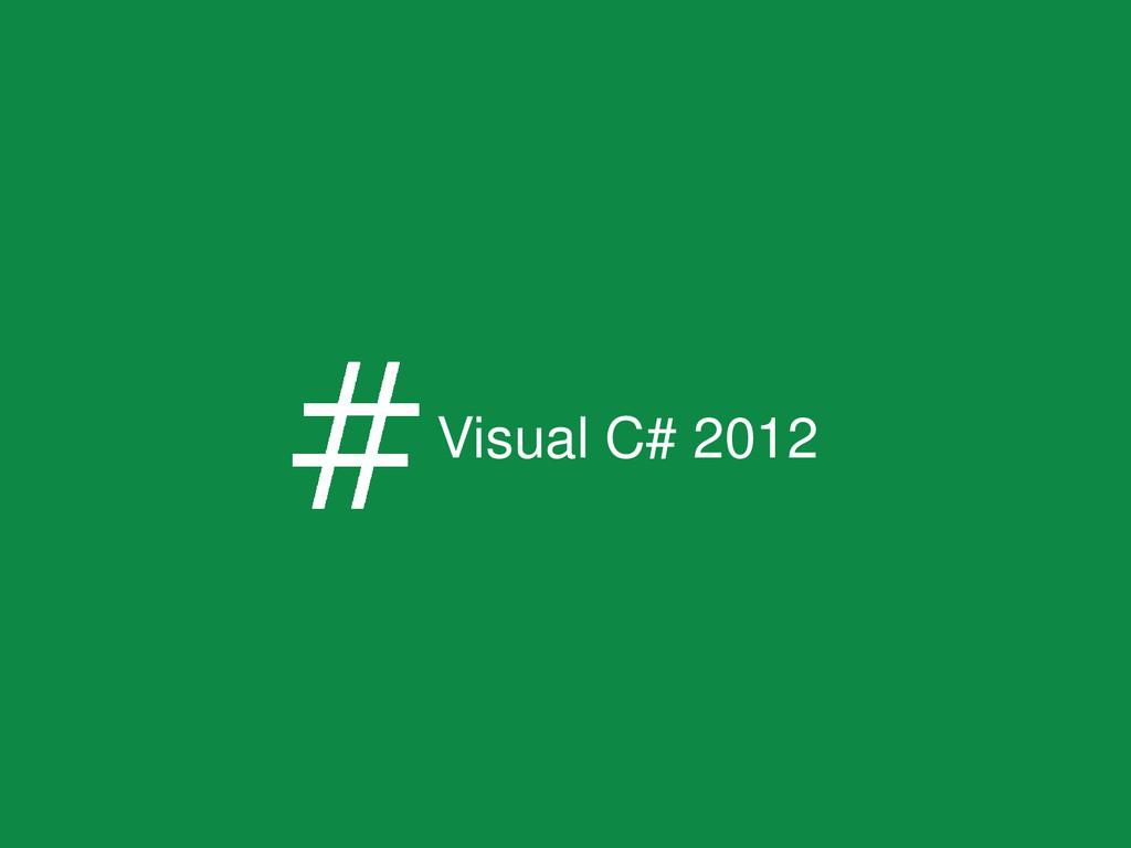 Visual C# 2012