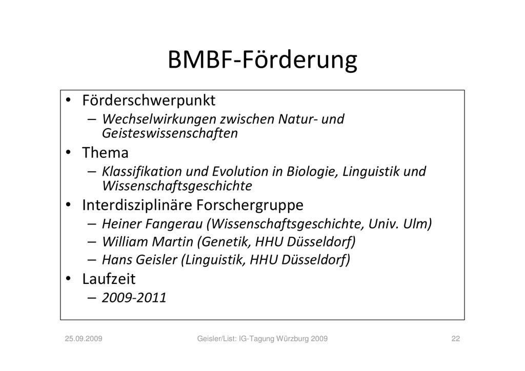 BMBF-Förderung • Förderschwerpunkt – Wechselwir...