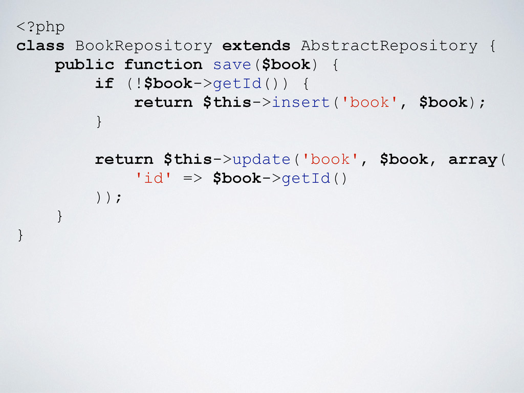 <?php class BookRepository extends AbstractRepo...