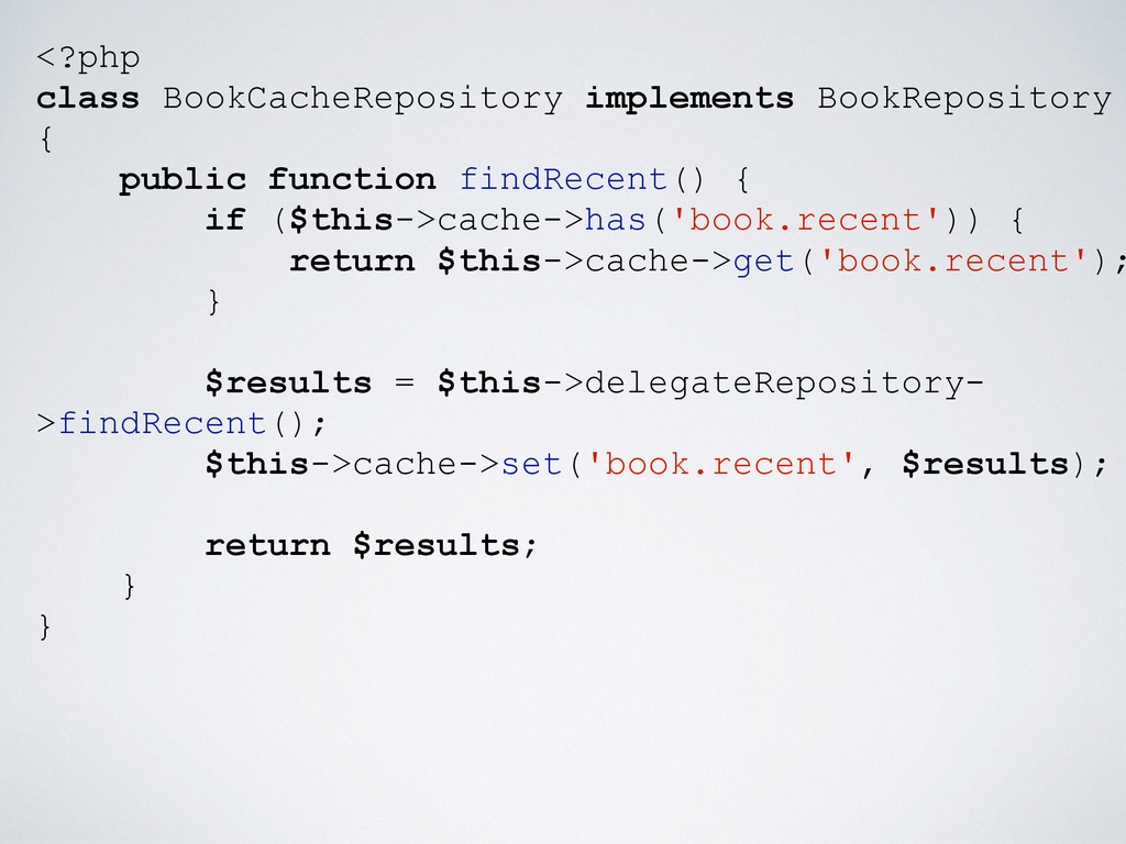 <?php class BookCacheRepository implements Book...