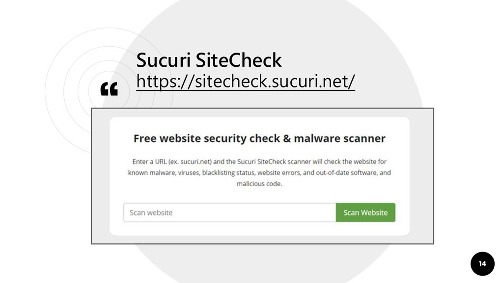 """ Sucuri SiteCheck https://sitecheck.sucuri.net..."