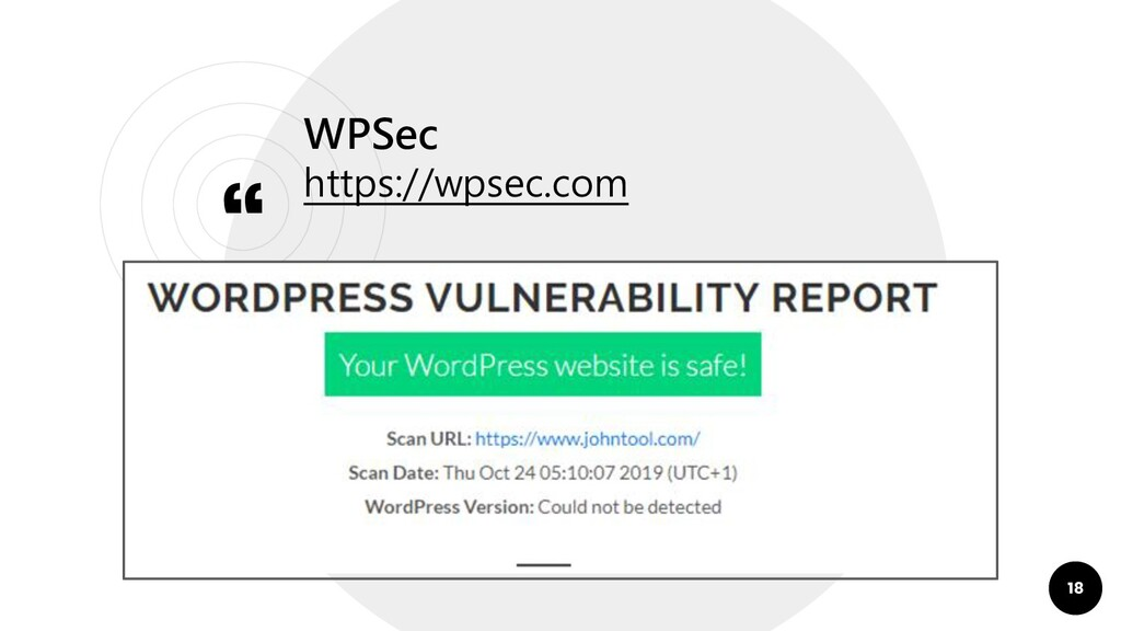 """"""" WPSec https://wpsec.com 18"""