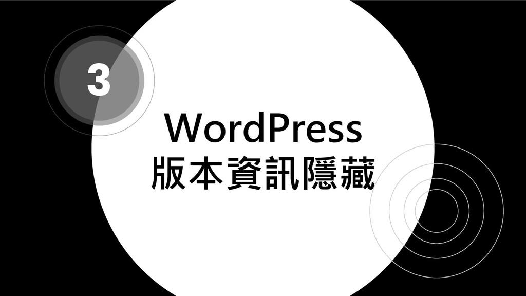WordPress 版本資訊隱藏 3