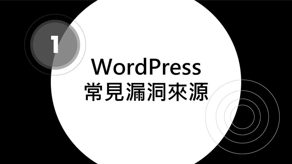 WordPress 常見漏洞來源 1