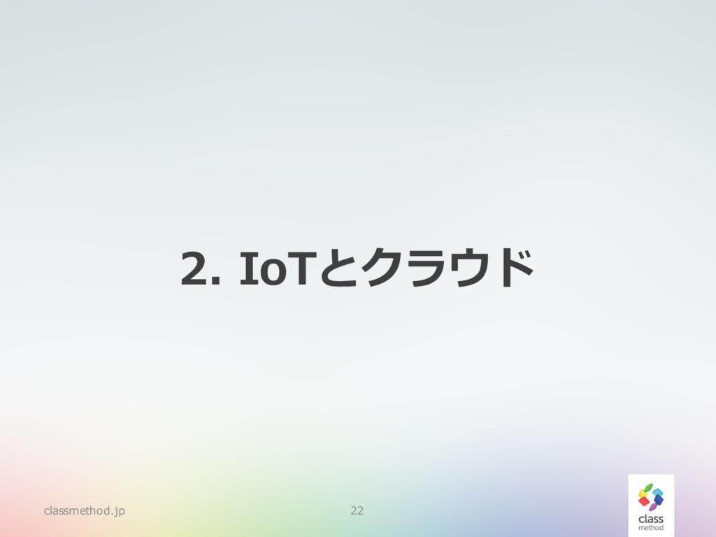 2. IoTとクラウド classmethod.jp 22