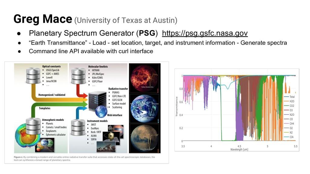 Greg Mace (University of Texas at Austin) ● Pla...
