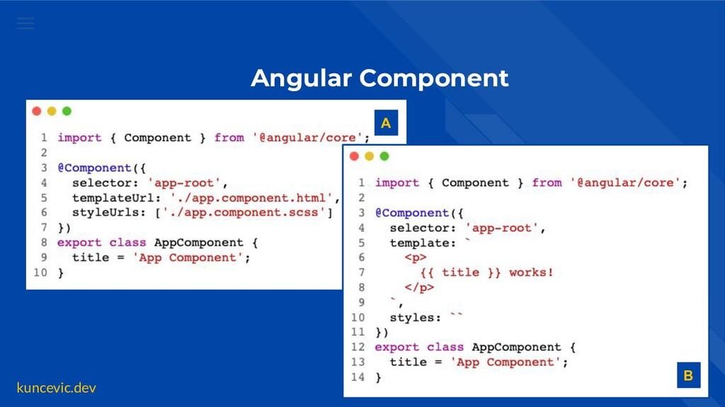kuncevic.dev Angular Component A B