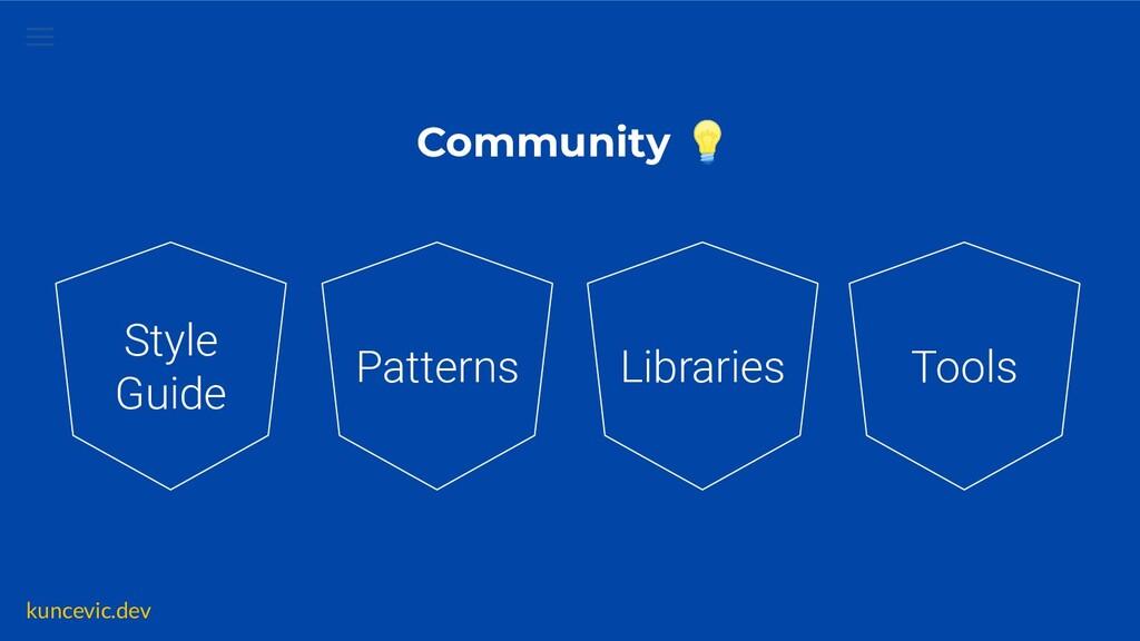 kuncevic.dev Community 💡 Patterns Libraries Too...