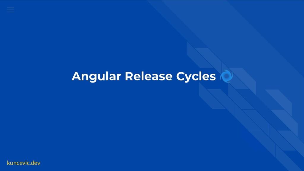 kuncevic.dev Angular Release Cycles 🌀