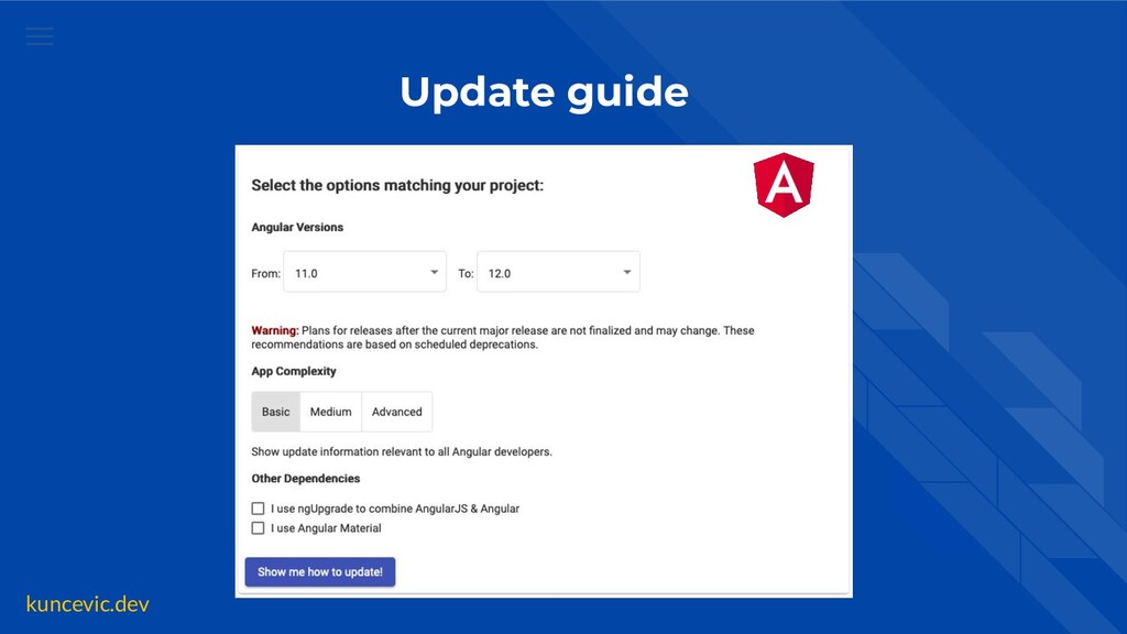 kuncevic.dev Update guide