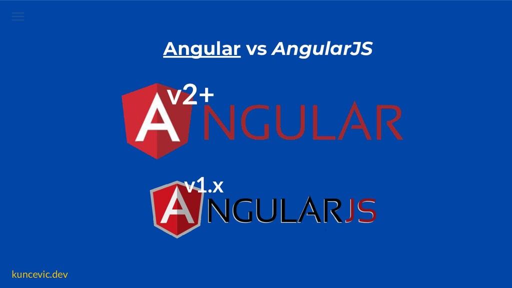 kuncevic.dev Angular vs AngularJS v2+ v1.x