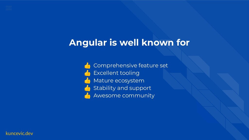 kuncevic.dev Angular is well known for 👍 Compre...