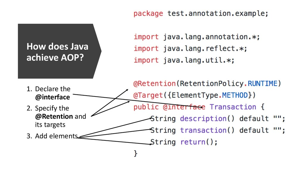 How does Java achieve AOP? 1. Declare the @inte...