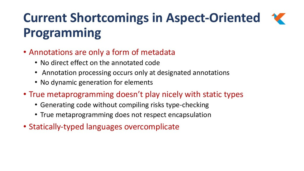 Current Shortcomings in Aspect-Oriented Program...
