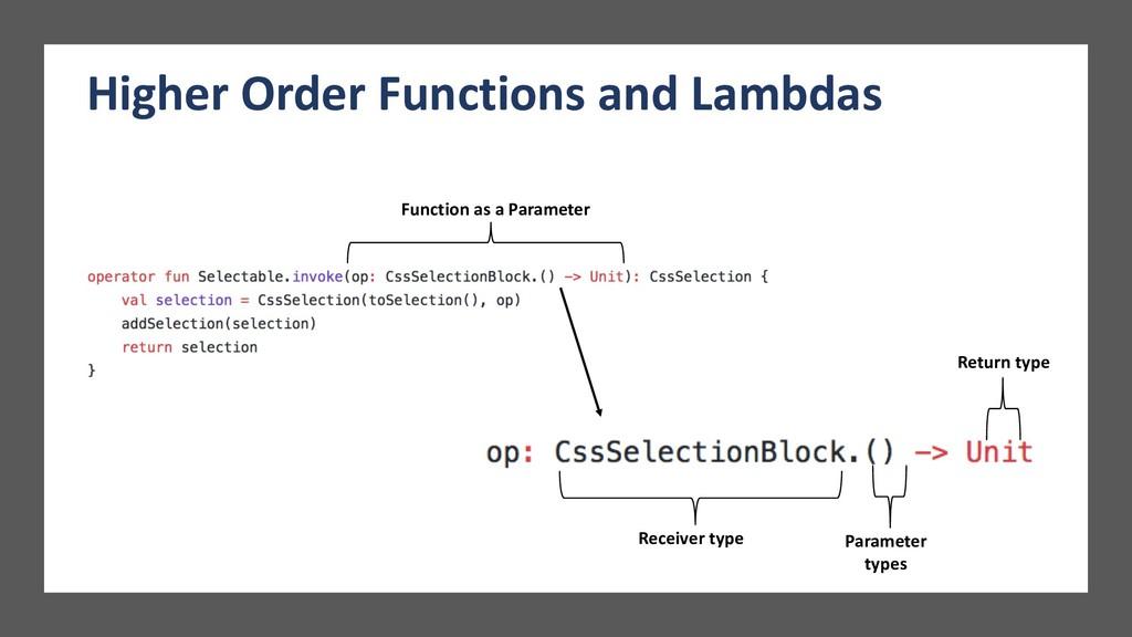Function as a Parameter Parameter types Return ...