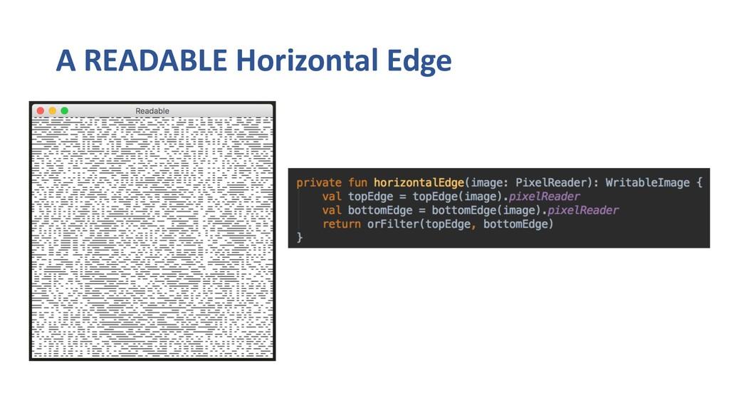 A READABLE Horizontal Edge