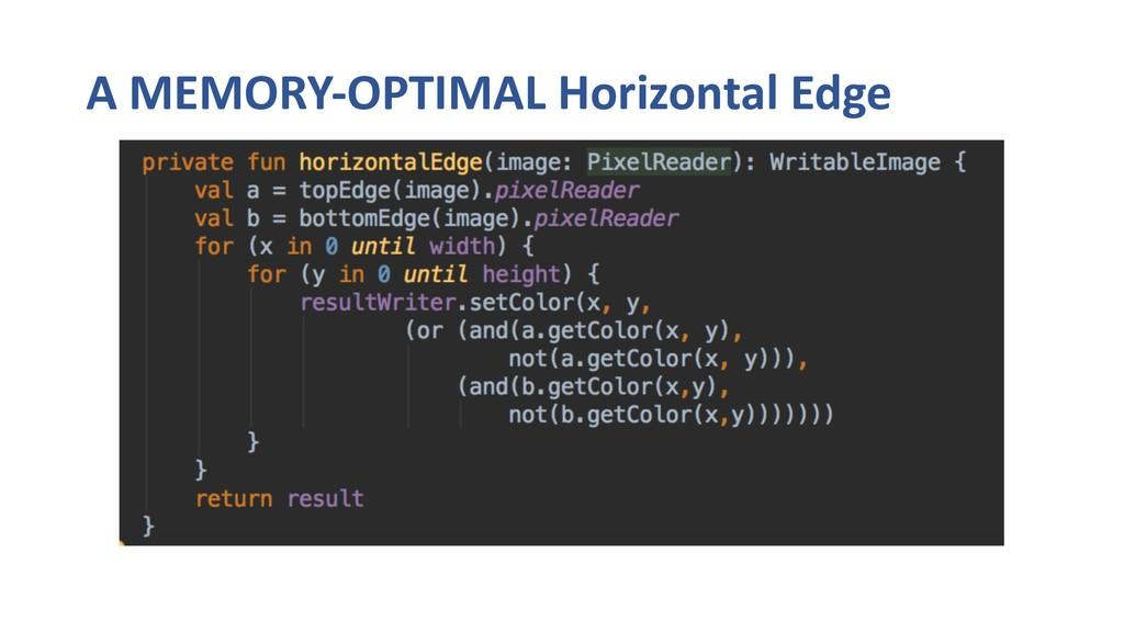 A MEMORY-OPTIMAL Horizontal Edge