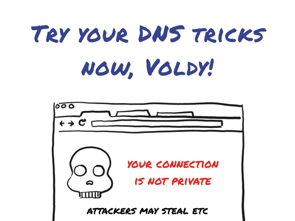 Try your DNS tricks now, Voldy! your connection...