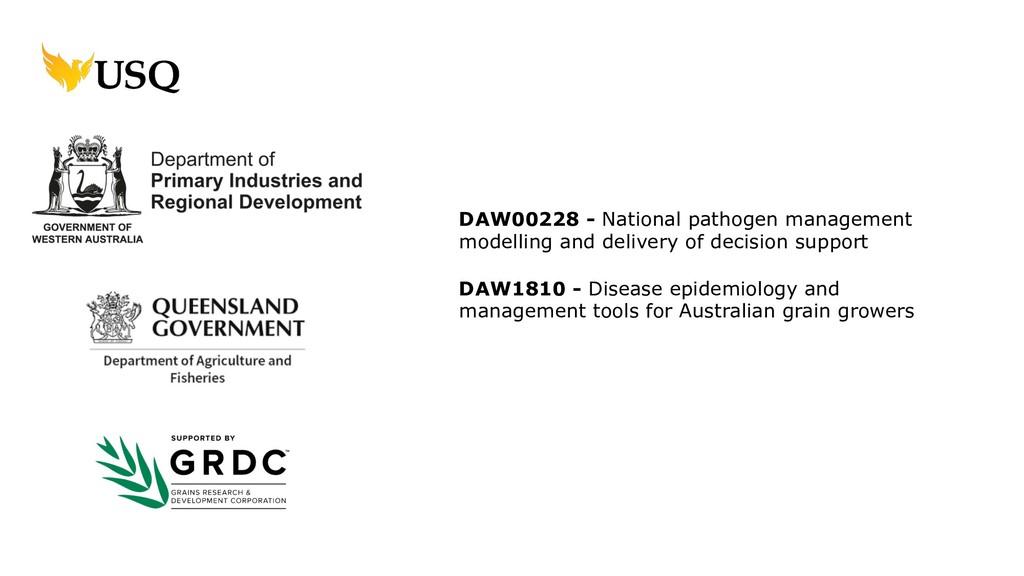 DAW00228 - National pathogen management modelli...