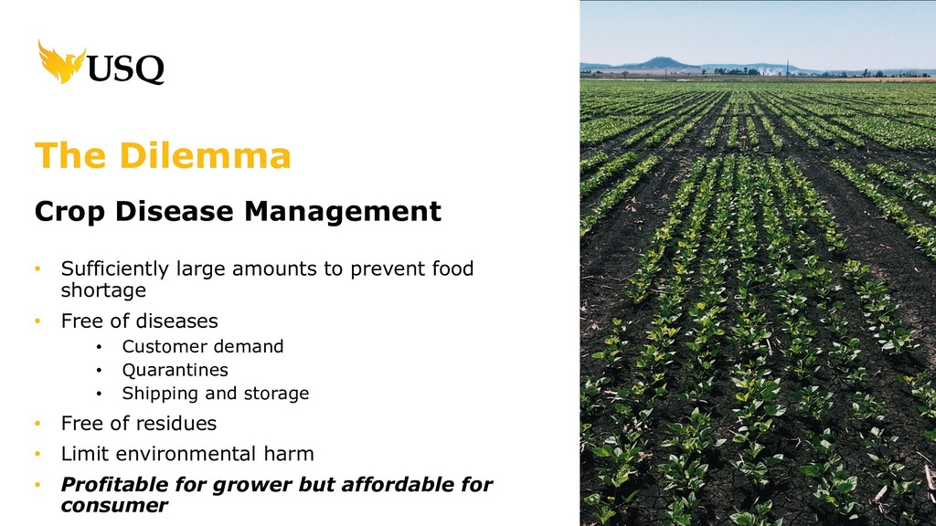 Crop Disease Management • Sufficiently large am...