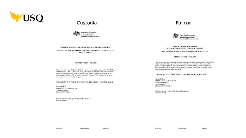 PER82104 Permit Version 4 Page 1 of 3 PERMIT TO...