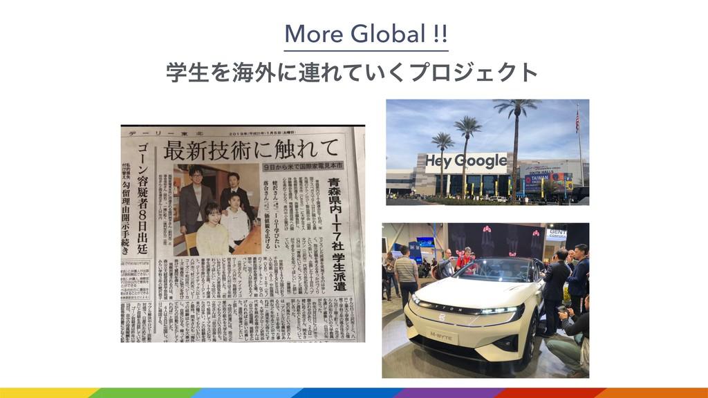 More Global !! ֶੜΛւ֎ʹ࿈Ε͍ͯ͘ϓϩδΣΫτ