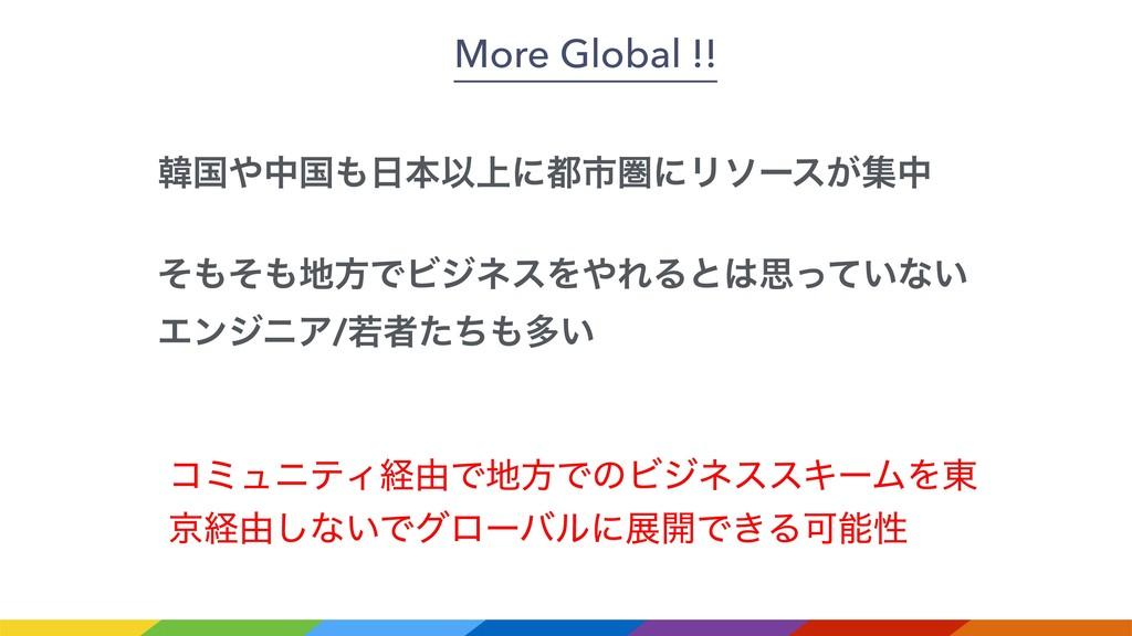 More Global !! ίϛϡχςΟܦ༝ͰํͰͷϏδωεεΩʔϜΛ౦ ژܦ༝͠ͳ͍Ͱά...