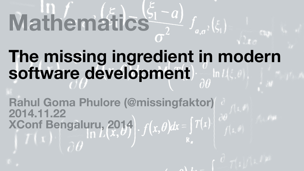 Mathematics The missing ingredient in modern so...