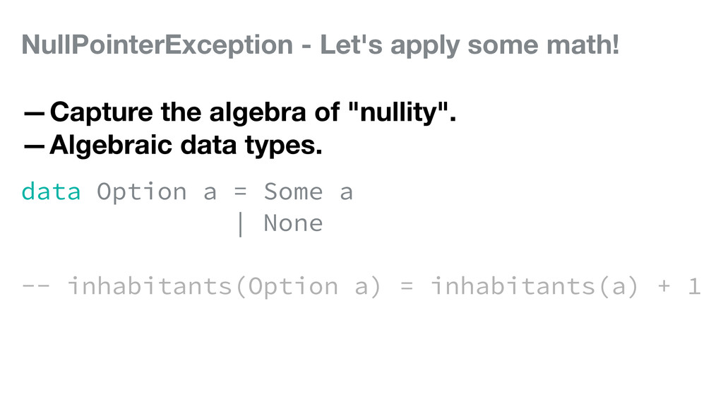 NullPointerException - Let's apply some math! —...