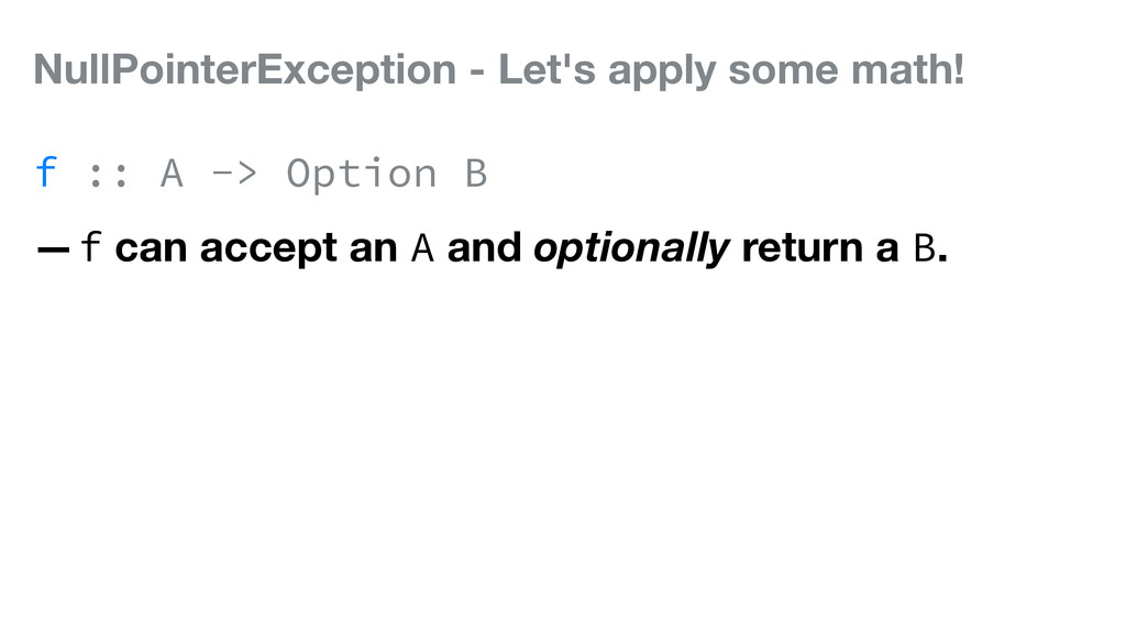 NullPointerException - Let's apply some math! f...