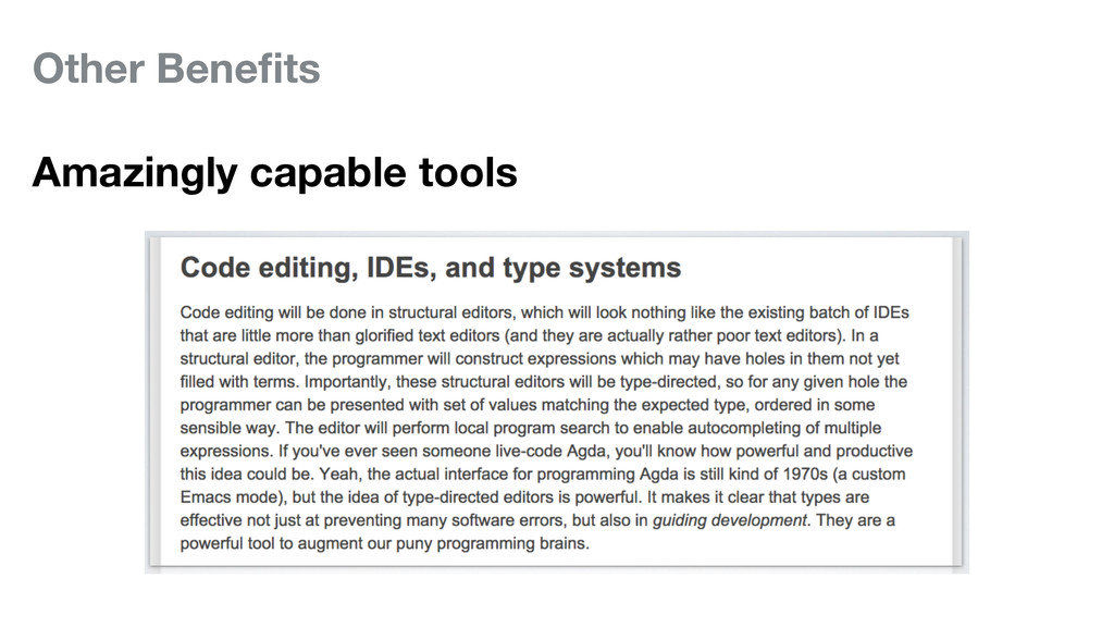Other Benefits Amazingly capable tools