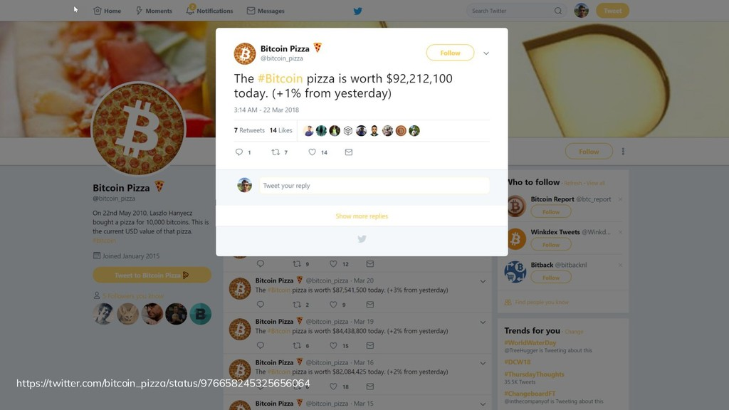Bitcoin pizzas Dcent.tech @divydovy https://twi...
