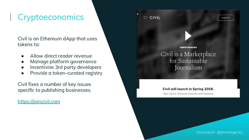 Dcent.tech @dcentagency Civil is an Ethereum dA...