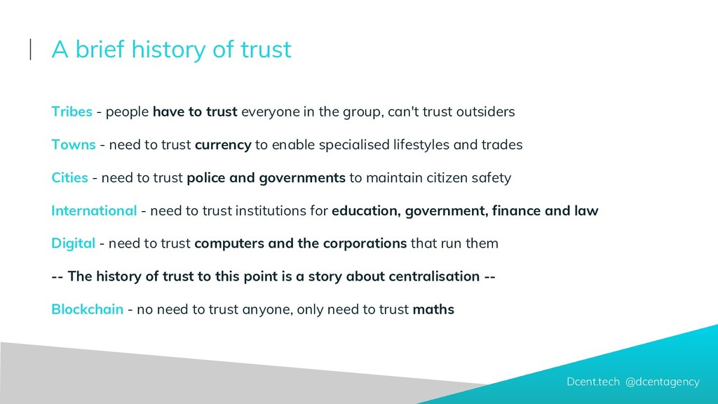 A brief history of trust Tribes - people have t...