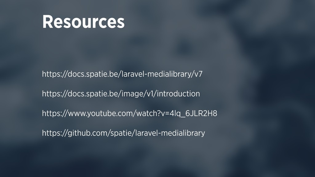 https://docs.spatie.be/laravel-medialibrary/v7