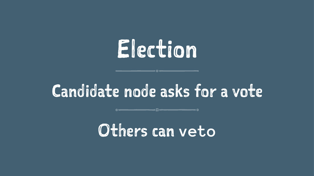 Election Candidate node asks for a vote Others ...