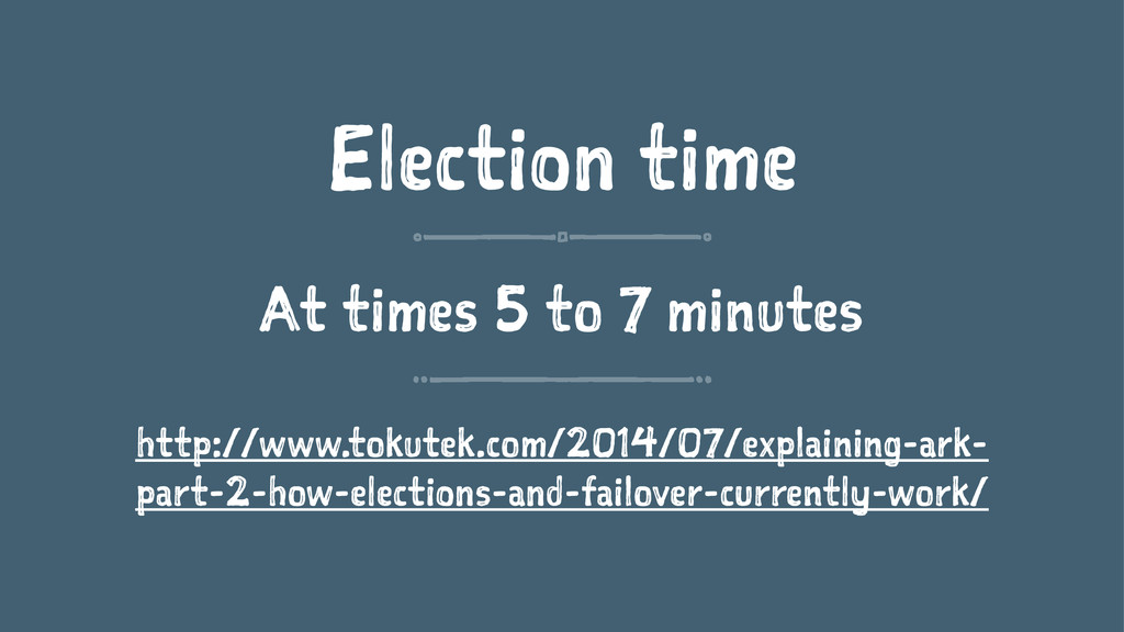 Election time At times 5 to 7 minutes http://ww...