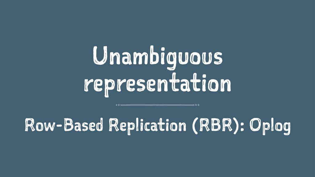 Unambiguous representation Row-Based Replicatio...