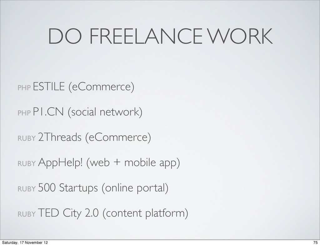 DO FREELANCE WORK PHP ESTILE (eCommerce) PHP P1...