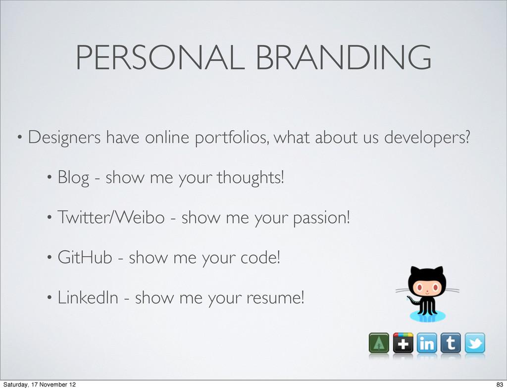 PERSONAL BRANDING • Designers have online portf...