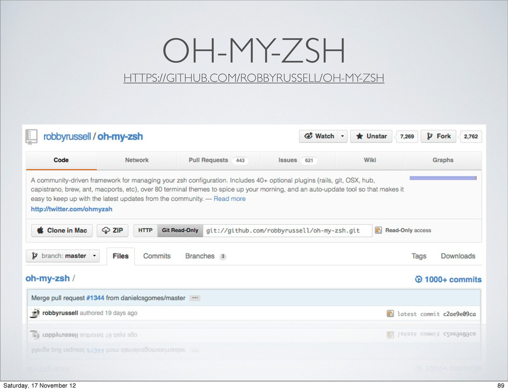 OH-MY-ZSH HTTPS://GITHUB.COM/ROBBYRUSSELL/OH-MY...