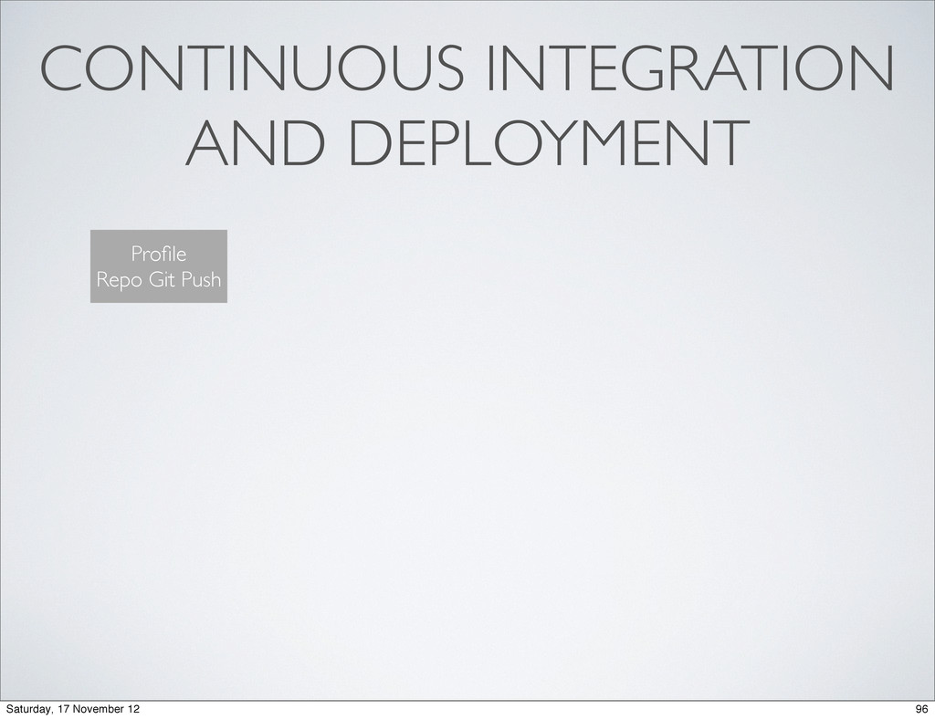 CONTINUOUS INTEGRATION AND DEPLOYMENT Profile Re...