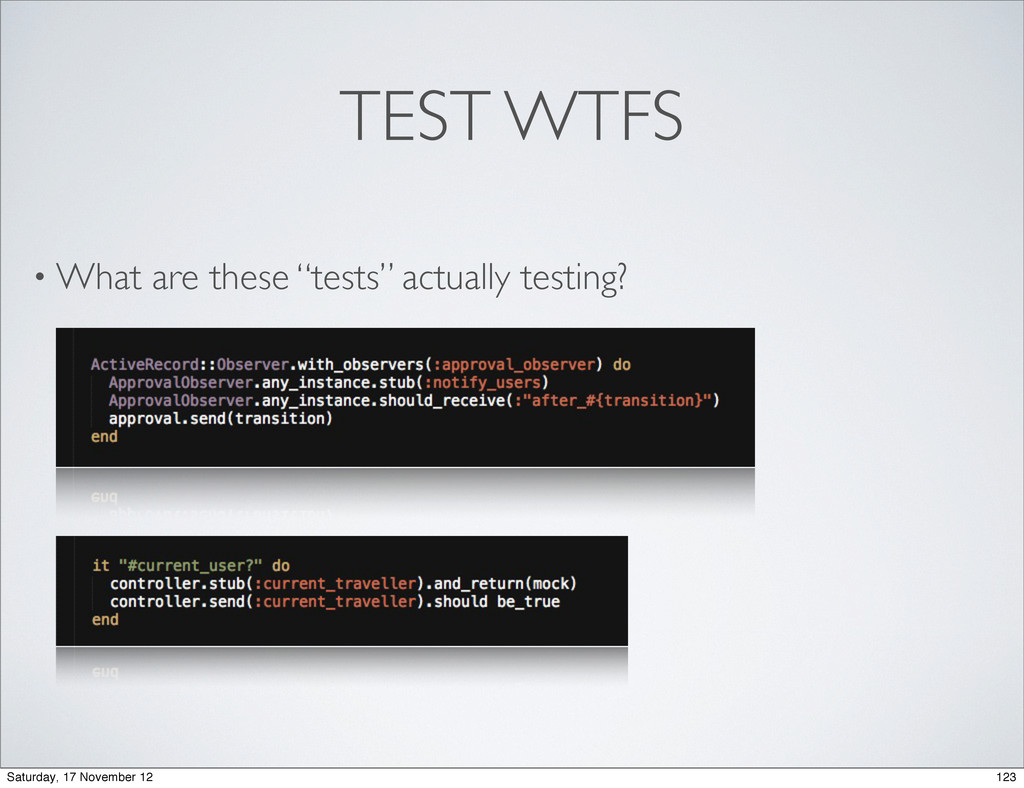 "TEST WTFS • What are these ""tests"" actually tes..."