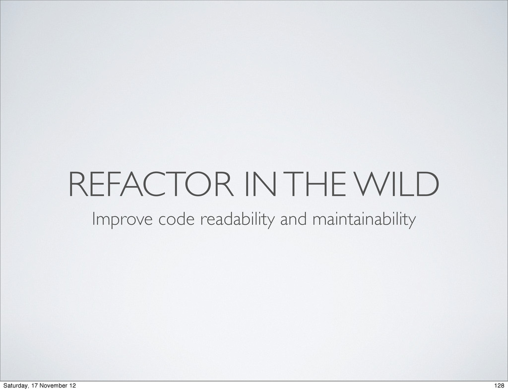 REFACTOR IN THE WILD Improve code readability a...