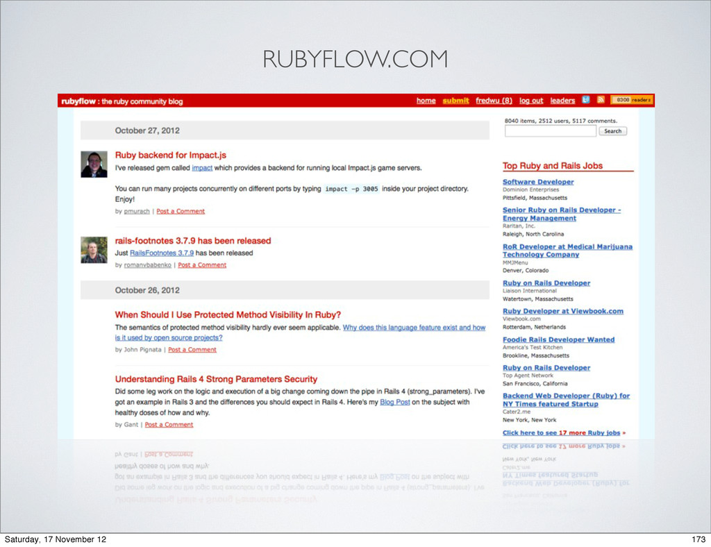 RUBYFLOW.COM 173 Saturday, 17 November 12