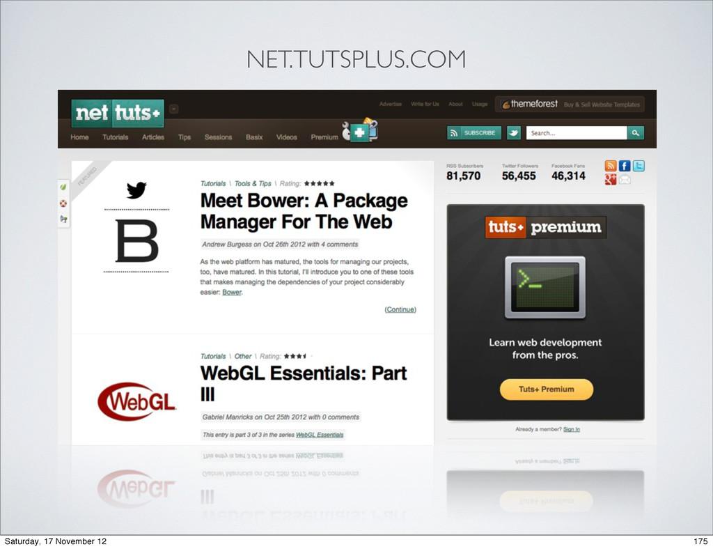 NET.TUTSPLUS.COM 175 Saturday, 17 November 12