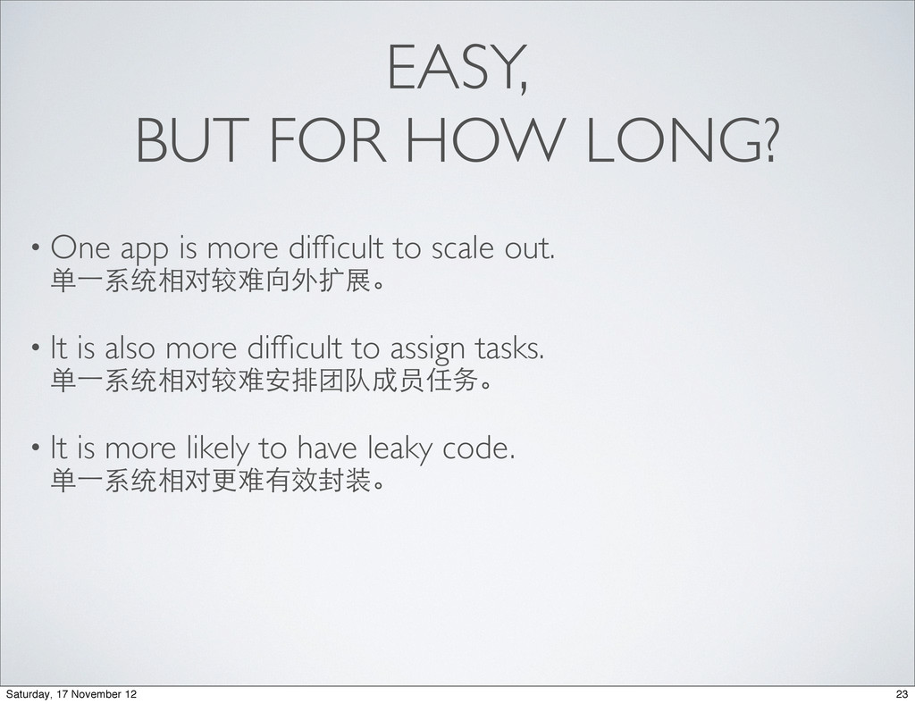 EASY, BUT FOR HOW LONG? • One app is more diffic...