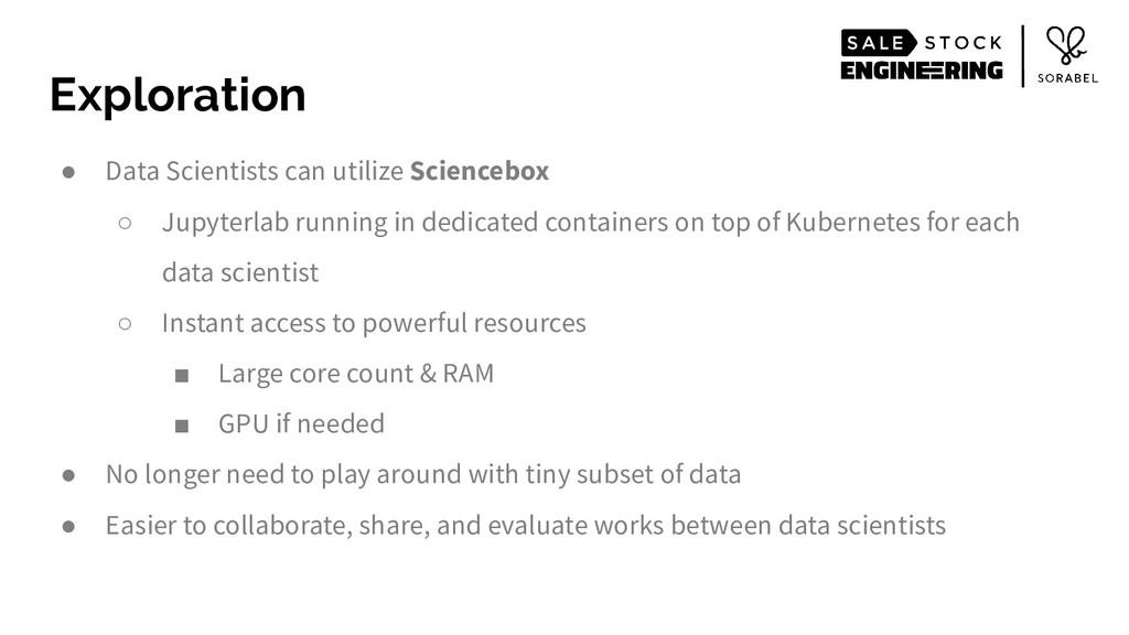● Data Scientists can utilize Sciencebox ○ Jupy...